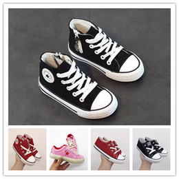 Kids Canvas Shoes Australia - Hot style wholesale classic canvas shoes kids fashion One Star shoes boys and girls sports canvas and sports children shoes conver gift