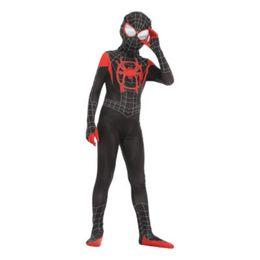 $enCountryForm.capitalKeyWord Australia - 2019 Hot Sale New Spider Man Tight Clothes Little Black Spider Cosplay Anime Costume New Era Spider-Man Parallel Universe Kid Adult