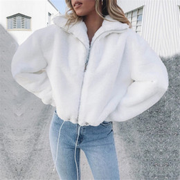 women long coat party NZ - 2019 Winter Fluffy Faux Fur Coat Femme Fur Faux Jackets Coat for Women Party Casual Long Sleeve White Outwear Hairy Coats Hot T190919