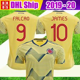c20c89c1f DHL Free Shipping 2019 Colombia Soccer Jerseys Copa America Home CUADRADO  Rodriguez JAMES FALCAO 19 20 Camiseta Colombia Kit Football shirts