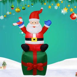 $enCountryForm.capitalKeyWord Australia - Christmas Inflatable Decoration Inflatable LED Santa Yard Decoration Santa Claus Indoor Outdoor Yard Garden Christmas Decor
