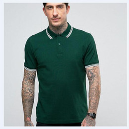 Wholesale tipped shirt resale online - Summer Fashion Men London fred Polo Shirts Tipped Casual Polos Sport Top Blouse Leaf Embroidery England perry Solid T Shirts Black