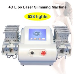lipo light machine NZ - Free shipping 4D lipo laser slimming equipment lipolaser rapid slimming machine weight loss 528 lights 12 Pads