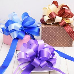 Pull ribbon bows online shopping - 20 Big size Baby Shower Large Pull Bow Ribbons Wedding Birthday Party Decor Gift Packing Car Decor pull out Flower Ribbons