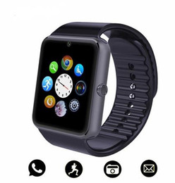 Bluetooth Smart Watch For Iphone Australia - Bluetooth Smart Watch Men GT08 With Touch Screen Big Battery Support TF Sim Card Camera For IOS iPhone Android Phone