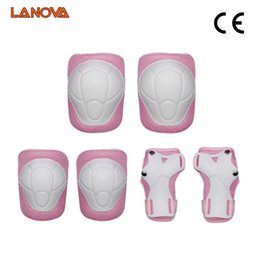 knee pads roller skating UK - LANOVA 6pcs Set protective patins Set Knee Pads Elbow Pads Wrist Protector Protection for Scooter Cycling Roller Skating T200611