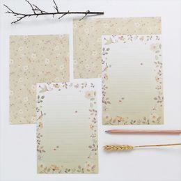 $enCountryForm.capitalKeyWord Australia - 9Pcs lot Floral Pattern Envelope Postcard Wedding Gift Invitation Card Paper Bag Wages Letter Cover Envelope Office Stationery
