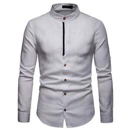 733071153 Primavera Outono Camisas dos homens de Manga Longa Slim Fit Básico  Streetwear Escritório cor Sólida branco Camisas Sociais Masculinas Tops  Roupas