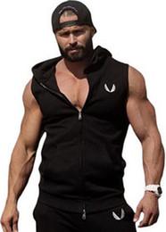 $enCountryForm.capitalKeyWord Australia - Mens Cotton Hoodie Sweatshirts Fitness Clothes Bodybuilding Tank Top Men Sleeveless Trend Tees Shirt Casual Golds Vest