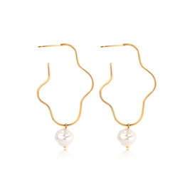 Irregular pearl earrIngs online shopping - New Bohemian Sea Shell Earrings For Women Gold Color Shell Statement Earrings Summer Beach Irregular Pearl Dangle Earring