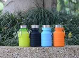 $enCountryForm.capitalKeyWord UK - 2019 Creative Squeezed Adjustable Water Bottles Portable Folding Sports for Travel Climbing Hiking Drink Kettle 550ML coffee bottle
