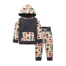 $enCountryForm.capitalKeyWord NZ - Spring High Quality Children Long Pants Suits Baby Boys Outdoor Causal Fashional Kids Girls Suits New Arrival Boys Hooded Pants Suits