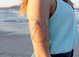 $enCountryForm.capitalKeyWord Australia - European style fashion summer beach silver plated multilayer chains Women girl leopard head slave Arm bracelet bangle Jewelry