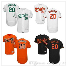cbdd8db0f Baltimore 2019 Men s Women s Youth Orioles 20 Frank Robinson Majestic Black  Alternate Authentic Flex Base Custom Baseball Jerseys