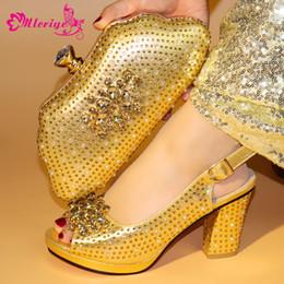 78131768471bd 51-3 GOLD Zapatos y bolsos a juego africanos Zapatillas y conjunto de  zapatos italianos en las mujeres para la fiesta en las mujeres Zapatos de  tacón alto ...