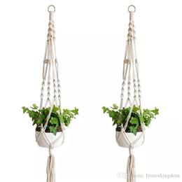 Mayitr Hanging Flower Rattan Basket Balcony Flowers Pot Plant Holder Art Home Decor Hanging Baskets Garden Pots & Planters