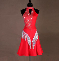 Costumes for singers online shopping - singer costume latin competition dress sequins tassel latin dance costumes for women samba tango dance dress for wome
