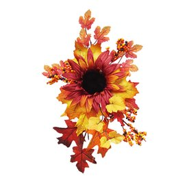 halloween wall backdrop Australia - Backdrop Party Autumn Leaves Photography Props Gift Artificial Flower Fake Sunflower Simulation Halloween Wall Hanging Romantic