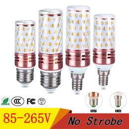 E14 candlE light bulb 15w online shopping - E27 E14 LED Bulbs SMD2835 W W LED Corn Light V Three color conversion Candle led lights For Home Decoration