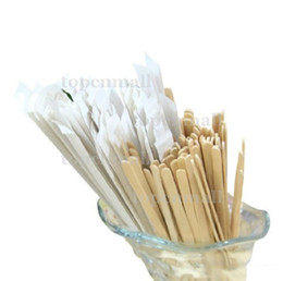 $enCountryForm.capitalKeyWord UK - 5000 Pieces 14cm Wrapped Wood Stirrer for Coffee Tea Drink Disposable Wooden Stir Stick Round End in Bag Cafe Shop Free Shipping