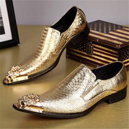 Toptan satış Yeni Geliş Yılan derisi Gerçek Deri Damat ayakkabı Metalik Mischpalette İyi Erkek ayakkabı Oxfords İş İtalyan Sivri Burun boyutunu 37-46 Ayakkabılar