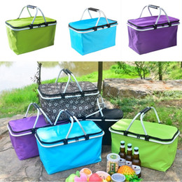 Simple cloth bagS online shopping - Outdoor Picnic Meal Bag Folding Oxford Cloth Ice Pack Family Outdoor Picnic Storage Bag Takeaway Container Insulation
