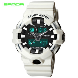 watch water digital 2019 - 2019 New Sanda Watches Men Sports Watch Men LED Digital Water Resist Fashion Outdoor Electronic Male Clocks 770 cheap wa