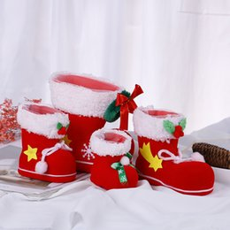 christmas gift shoes NZ - 1pcs New Practical Merry Christmas Santa Boot Shoes Hanging Candy Gift Bags Xmas Tree Decoration