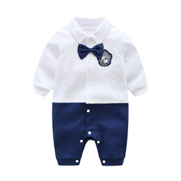 0876a17b0da 2019 Newborn Clothes Baby Boy Long Sleeves Romper Cotton Toddler Infant  Clothing Cartoon New Born Baby Children Jumpsuit Carters Kids Top