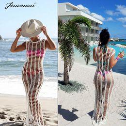 Großhandel Fuumuui 2019 Frauen-Strand-Kleid-Strand-Vertuschung-Bade Badeanzug-Badebekleidung Frauen Verpackung Pareo Vertuschungsarong Kleid
