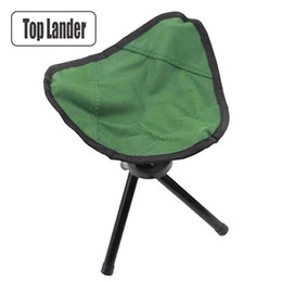 foldable camp chair Australia - Folding Tripod Chair Outdoor Camping Fishing Chair Foldable Hiking Picnic Camp Stool Seat BBQ Beach Portable Pop Up Chair