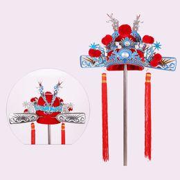 Chinese musiC man online shopping - Drama Costume Accessories Chinese Peking Opera Headgear Ancient groom wedding crown carnival halloween cosplay performance hat