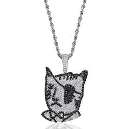$enCountryForm.capitalKeyWord UK - Pirate one-eyed cat Pendants Designer Necklace Mens Hip Hop Jewelry 18K Gold Plated Summer Fashion Gold Necklaces