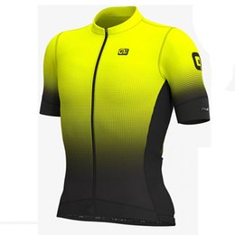 polyester short sleeve shirts Australia - Triathlon Breathable bicycle Wear shirts ALE pro team Cycling Short Sleeves jersey maillot ciclismo bicicleta carretera MTB bike jersey