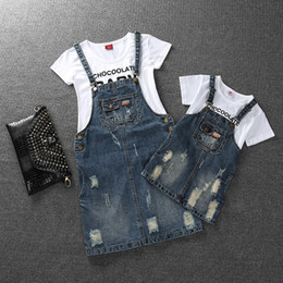 $enCountryForm.capitalKeyWord UK - Family Look Girls Dress Denim Mom And Daughter Dress Matching Mother Daughter Clothes Mommy And Me Clothes Plus Size Y190523