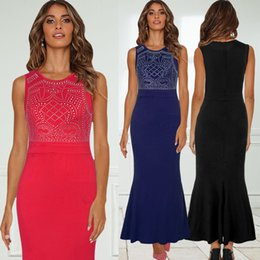 Night Suit Winter Australia - Fairy2019 Fashion Pattern New Popular Nail Pearl Long Sexy Longuette European Will Suit-dress Brand Full Dress