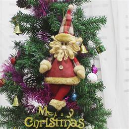 $enCountryForm.capitalKeyWord Australia - Santa Claus Snowman Reindeer Doll Christmas Decoration for Home Xmas Tree Hanging Ornaments Pendant Best Gift