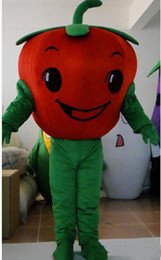 Cartoon Tomato UK - 2019 High quality hot Three tomatoes cartoon dolls mascot costumes props costumes Halloween free shipping