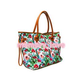 $enCountryForm.capitalKeyWord Australia - Cactus Tote Bag New Design Customized Large Southwest Tote Personalized Luggage Tribal Bag Cactus Flower Weekend Bag Handbag Tote 2019