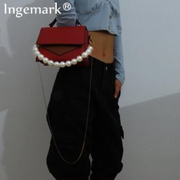 trouser chain Australia - Punk Long 100cm Snake Link Metal Purse Bag Chain Strap Imitation Pearl Pant Trousers Keychain Handbag Shoulder for Women Jewelry