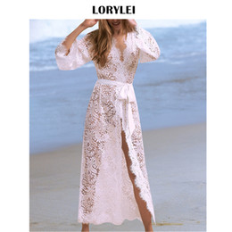 e10f2714474 Sexy tranSparent beach cover up online shopping - Sexy Women Swimwear  Transparent Robe Beachwear White Lace Find Similar
