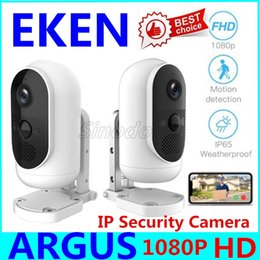 wide view security cameras Australia - EKEN Argus WiFi IP Camera Rechargeable Battery Powered Outdoor Indoor Security 140° Wide View Angle 1080P Full HD Video Camera