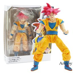 Action Figures Goku Super Saiyan Australia - Shf S.h.figuarts Dragon Ball Super Saiyan God Son Goku Red Hair Gokou Dragon-ball Pvc Action Figure Collectible Model Toy 15cm Y190604