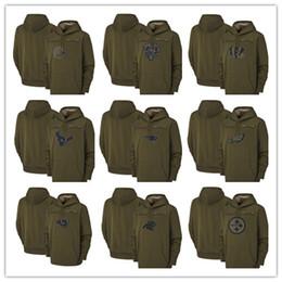 SweatShirt bear online shopping - Salute to Service Olive Men Hoodie Green Bay Chicago Packers Bears Minnesota Kansas City Viking Chiefs Pullover Houston Sweatshirt Texans