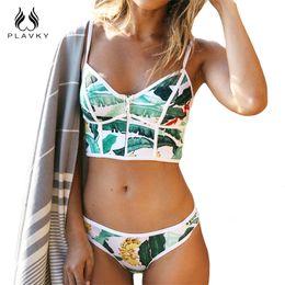 0478817074 2017 Sexy Floral Biquini Thong Zipper High Neck Swim Bathing Suit Plus Size  Swimwear Women Brazilian Bikini Push Up Swimsuit Y19042203