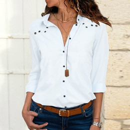 $enCountryForm.capitalKeyWord Australia - blouses women 2019 Spring vintage Office lady blouses long sleeve women shirts white chiffon shirt long sleeve Female Clothing