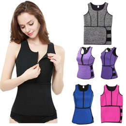 Slimming Sauna Vest Australia - 2019 Women Neoprene Waist Shaper Thermo Sweat Sauna Yoga Vest Adjustable Slimming Waist Belt Trainer Body Shaper Shapewear Slimmer A42503