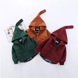 baby girl denim jackets UK - New Infant Coat Boy And Girl Hooded Spring Autumn Jacket Baby Outerwear 8bb016 J190513