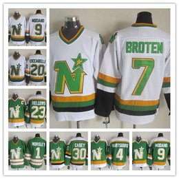 1efce4aef7a Custom 20# Cheap Minnesota North Stars Neal Broten Mike Modano Dino  Ciccarelli Brian Bellows Gump Worsley 30 JON CASEY PARISE hockey jerseys