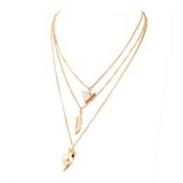 alloy bodies UK - Fashion Jewelry Alloy Link Chain Necklace Multilayer Body Chain leaf Pendant Necklaces For Women colliers